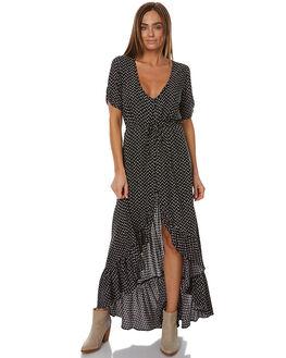 BLACK WOMENS CLOTHING AUGUSTE DRESSES - AMH2-17261-BKBK