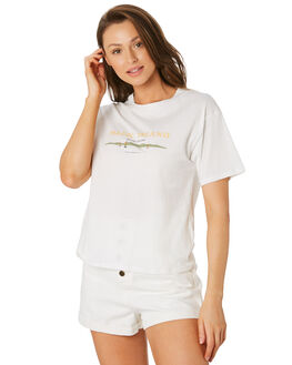 WHITE WOMENS CLOTHING COOLS CLUB TEES - 100-CW4WHI