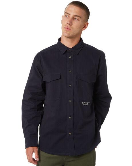 NAVY MAROON TRIM MENS CLOTHING LOWER JACKETS - LO19Q1MSHI01NVYMR