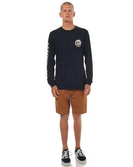BLACK MENS CLOTHING QUIKSILVER TEES - EQYZT04517KVJ0