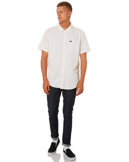 OFF WHITE MENS CLOTHING BRIXTON SHIRTS - 01099OFFWH