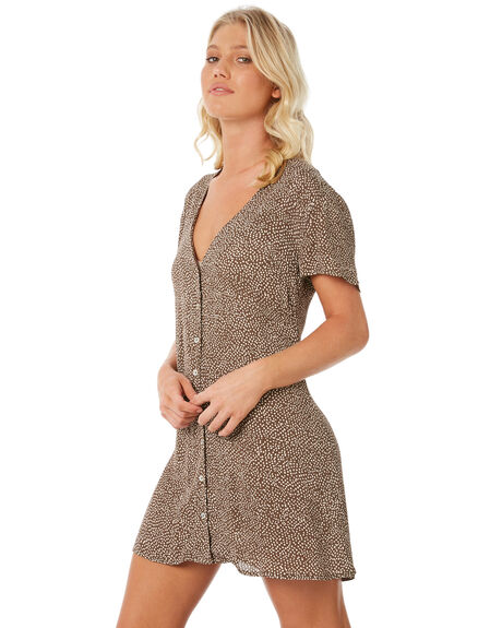 OLIVE WOMENS CLOTHING RVCA DRESSES - R281756OL1