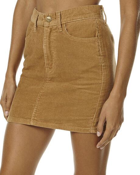 TAN CHORD WOMENS CLOTHING AFENDS SKIRTS - 52-03-047TAN