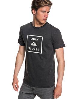 BLACK MENS CLOTHING QUIKSILVER TEES - EQYZT05115KVJ0