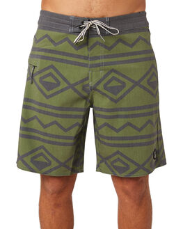 OLIVE MENS CLOTHING CAPTAIN FIN CO. BOARDSHORTS - CR182007OLI