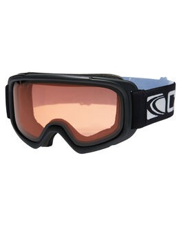 MATT BLACK ORANGE BOARDSPORTS SNOW CARVE GOGGLES - 6120MBLKO
