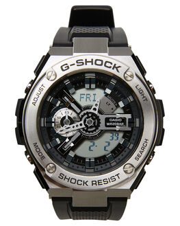 BLACK STEEL MENS ACCESSORIES G SHOCK WATCHES - GST410-1ABLKST