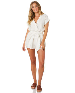 WHITE WOMENS CLOTHING THE BARE ROAD PLAYSUITS + OVERALLS - 990741-03WHT
