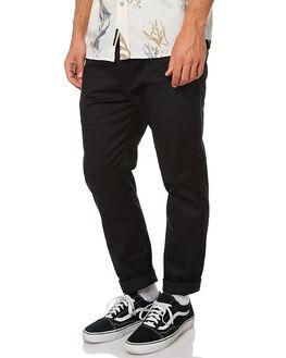 BLACK MENS CLOTHING DEPACTUS PANTS - AM030006BLK