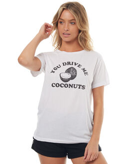 WHITE WOMENS CLOTHING TEE INK TEES - CAST761WHT
