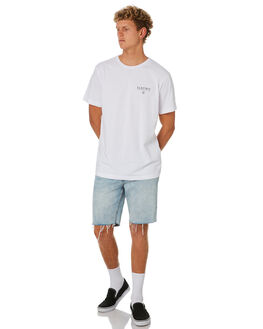 WHITE MENS CLOTHING ELECTRIC TEES - EC-01-48-09WHT