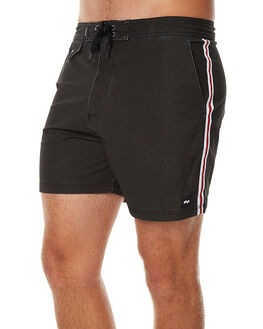 DIRTY BLACK MENS CLOTHING BANKS BOARDSHORTS - BS0077DBL