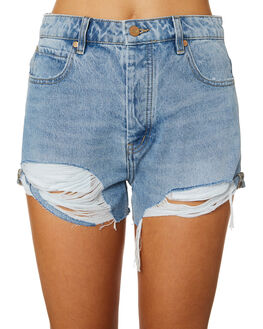 DISTRICT TORN OUTLET WOMENS LEE SHORTS - L-656502-FT6
