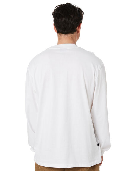 SOLID WHITE MENS CLOTHING STUSSY TEES - ST001011SWHT
