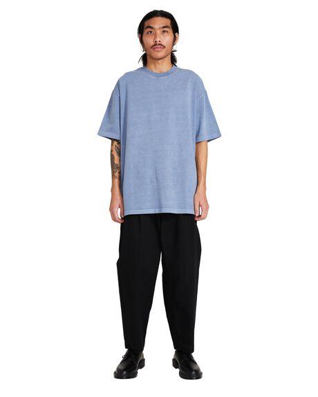 BLUE MENS CLOTHING BLACK NOISE WHITE RAIN TEES - 35963800022