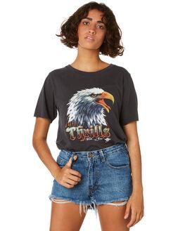 VINTAGE BLACK WOMENS CLOTHING THRILLS TEES - WTS8-112VBBLK