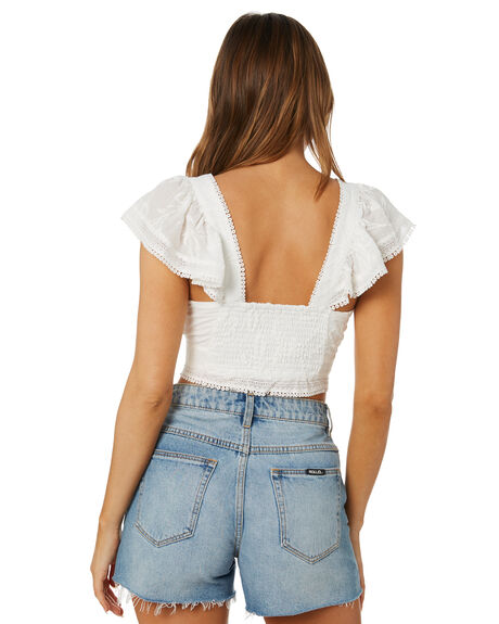 ANTIQUE WHITE WOMENS CLOTHING TIGERLILY FASHION TOPS - T602035AWT
