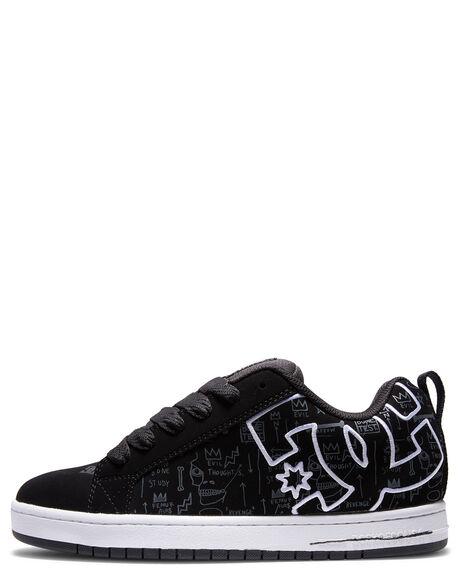 BLACK PRINT MENS FOOTWEAR DC SHOES SNEAKERS - ADYS100675-BPT