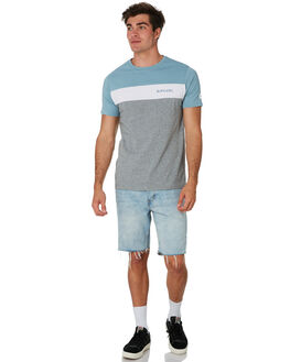 BLUE GREY MENS CLOTHING RIP CURL TEES - CTESG21005