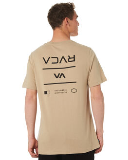 DUST YELLOW MENS CLOTHING RVCA TEES - R182053DTYEL