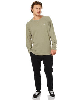 BLACK MENS CLOTHING THRILLS PANTS - TW7-405BBLK