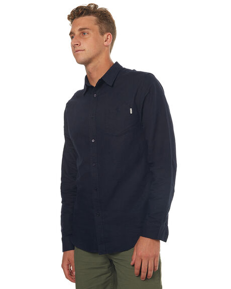 NAVY MENS CLOTHING RHYTHM SHIRTS - JUL17-WS01-NAV