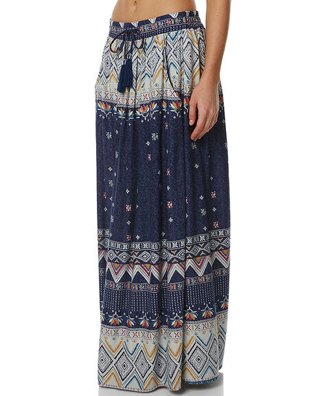 KANTHA BORDER PRINT WOMENS CLOTHING ROXY SKIRTS - ERJWK03019BSQ6