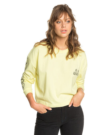 ELFIN YELLOW WOMENS CLOTHING QUIKSILVER TEES - EQWKT03059-YEC0