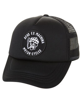 BLACK MENS ACCESSORIES DEUS EX MACHINA HEADWEAR - DMF77764BLK