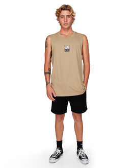 DUST YELLOW MENS CLOTHING RVCA SINGLETS - RV-R192002-DYL