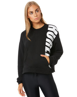 BLACK WOMENS CLOTHING HURLEY JUMPERS - CJ8737010