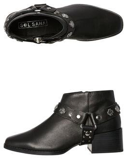 BLACK WOMENS FOOTWEAR SOL SANA BOOTS - SS181W404BLK