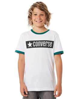 WHITE KIDS BOYS CONVERSE TEES - R968686001
