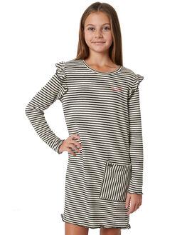 BLACK WHITE STRIPE KIDS GIRLS EVES SISTER DRESSES - 9910082STR