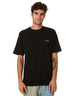 BLACK MENS CLOTHING BARNEY COOLS TEES - 151-CC1BLK