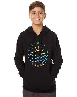 BLACK KIDS BOYS SWELL JUMPERS - S3172441BLK