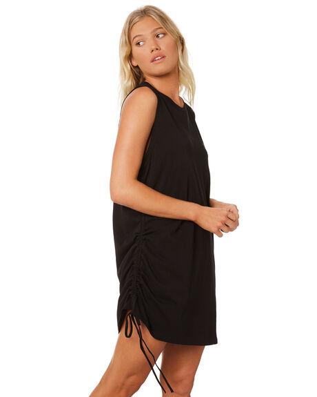 BLACK WOMENS CLOTHING RPM DRESSES - 8SWD01ABLK