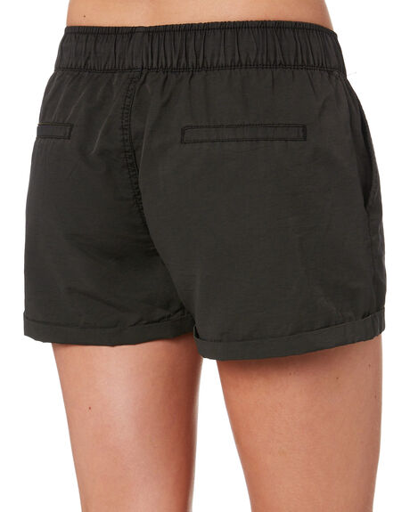 WASHED BLACK WOMENS CLOTHING SWELL SHORTS - S8173231WBLK