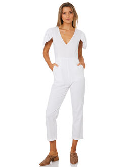 WHITE WOMENS CLOTHING MLM LABEL PLAYSUITS + OVERALLS - MLM427AWHI