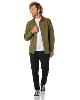 OLIVE MENS CLOTHING BRIXTON JACKETS - 03244OLIVE