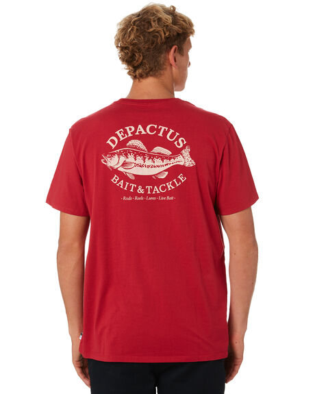 RED CLAY OUTLET MENS DEPACTUS TEES - D5193004RDCLY
