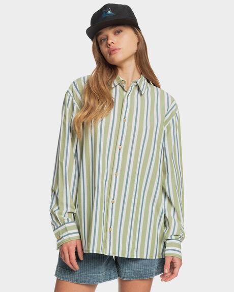 CALLISTE GREEN BOYFR WOMENS CLOTHING QUIKSILVER FASHION TOPS - EQWWT03056-GMV3