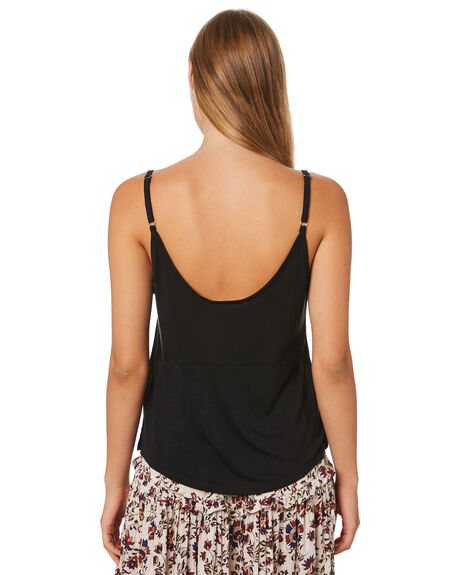 BLACK OUTLET WOMENS SWELL SINGLETS - S8202007BLK