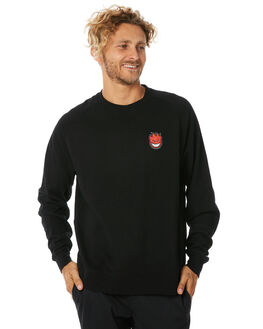 BLACK MENS CLOTHING SPITFIRE JUMPERS - LBHFILLBLK