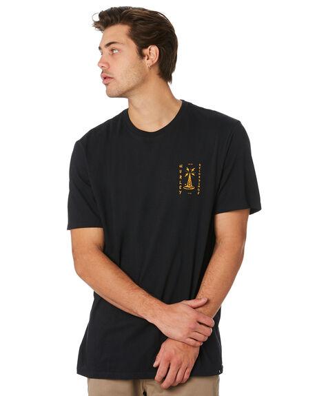 BLACK MENS CLOTHING HURLEY TEES - AT2940010
