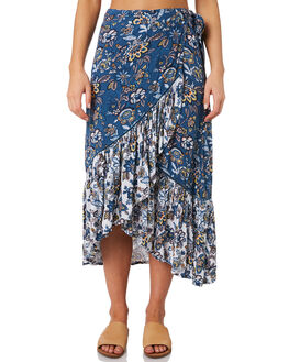 BLUE FLORAL WOMENS CLOTHING O'NEILL SKIRTS - 5421614BLF