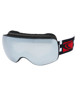 BLACK GREY CHECKER BOARDSPORTS SNOW CARVE GOGGLES - 6088CBGCHK