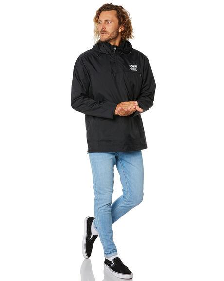 BLACK MENS CLOTHING VANS JACKETS - VN0A49PBBLKBLK