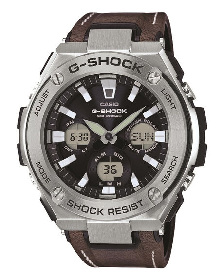 BROWN SILVER MENS ACCESSORIES G SHOCK WATCHES - GSTS130L-1ABRSLV