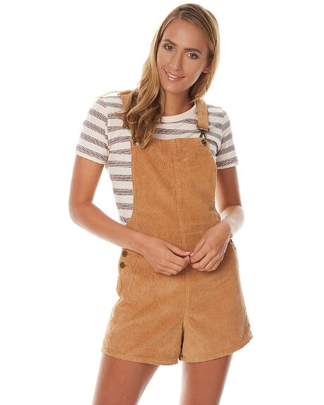 LIGHT TAN WOMENS CLOTHING AFENDS PLAYSUITS + OVERALLS - 51-02-085LTAN
